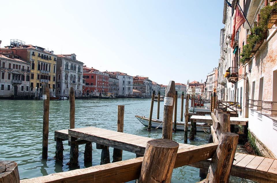 Venezia, Waterway, Old Houses