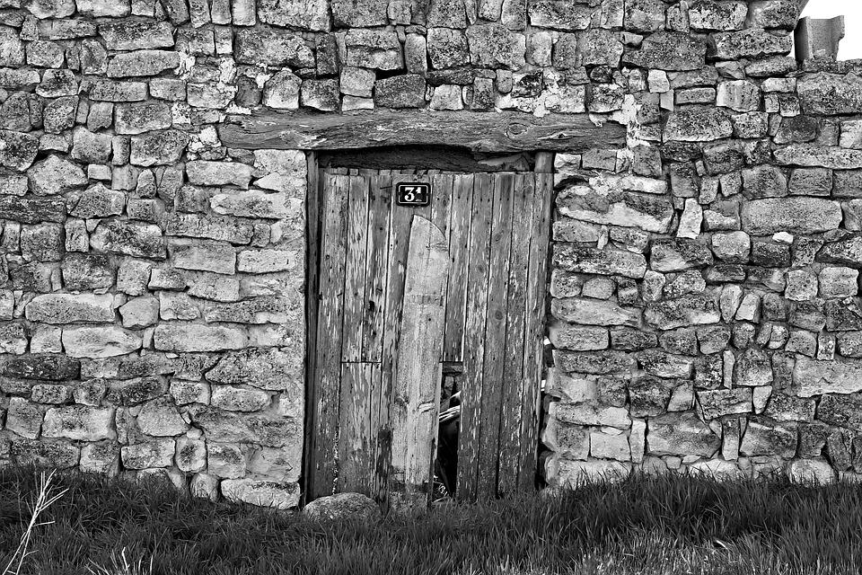Door, Old, Arc, Background, Texture, Old Wood, Iron