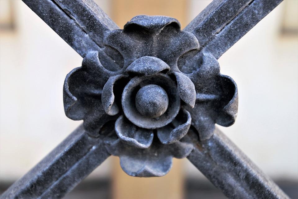 Closeup, Iron, Steel, Patina, The Closure Of, Old