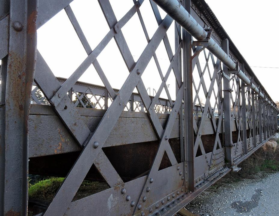 Bridge, Iron, Old, Road, Turbot