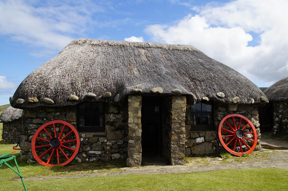 Isle Of Skye, Open Air Museum, House, Cottage, Old