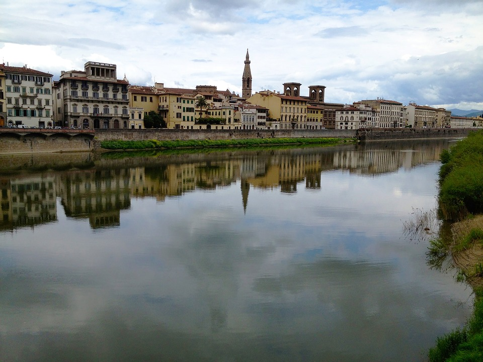 Florence, Italy, River, Europe, City, Travel, Old