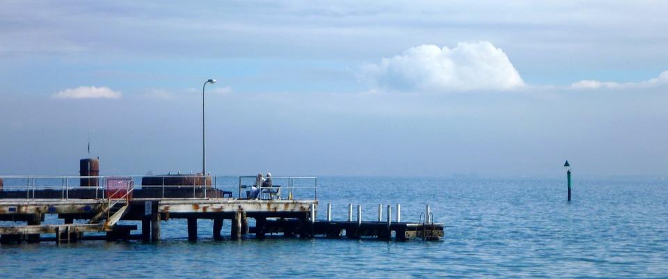 Pier, Old Jetty, Water, Sea, Horizon