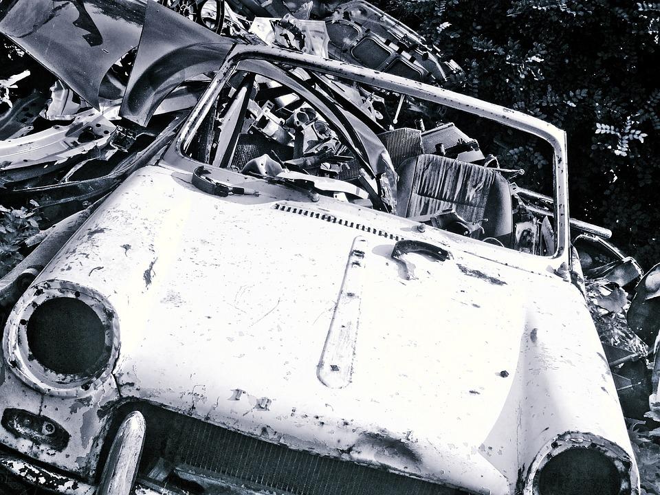Free photo Old Junk Metal Junkyard Car Scrap Wreck Trash - Max Pixel