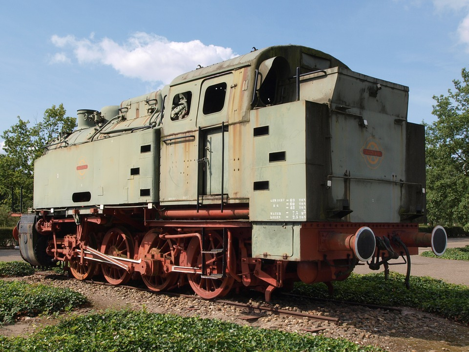 Krupp, Locomotive, Transportation, Railway, Old