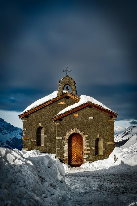 Church, Switzerland, Old, Landmark, Winter, Snow