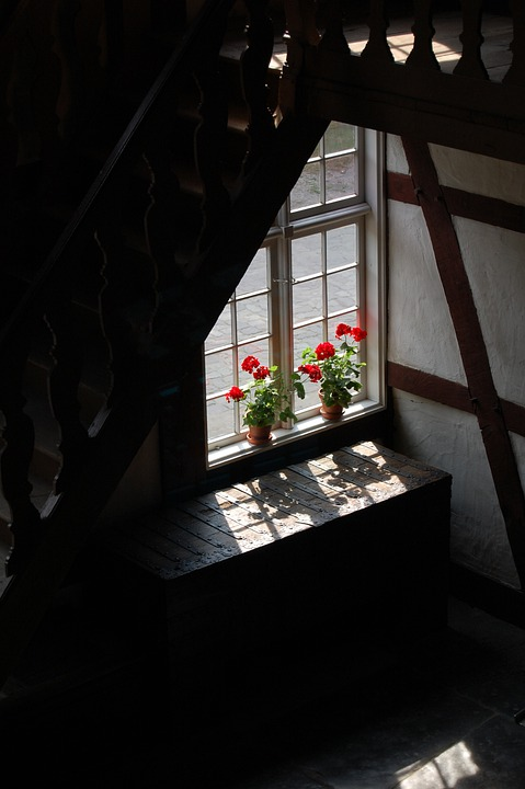 Window Sill, Window, Old, Home, Building, Light