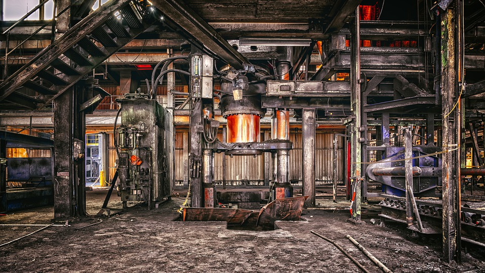 Machine, Press, Old, Industry, Lost Places