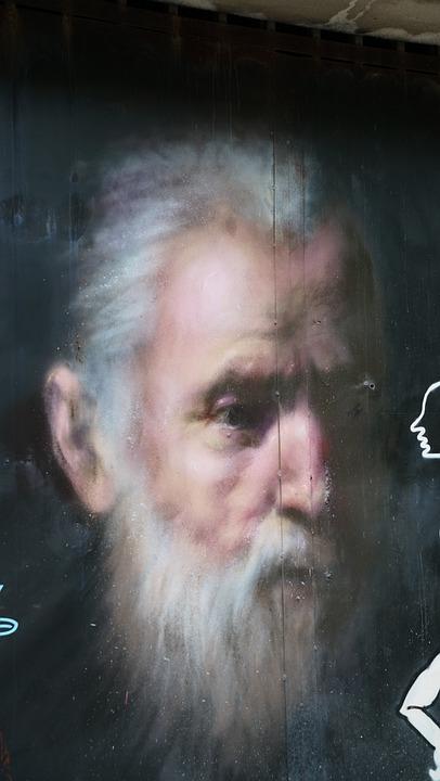 Street, Art, Graffiti, Old, Man, Artistic, Creative