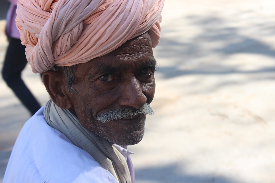 Old Man, Turban, Folk, Traditional, India, Culture
