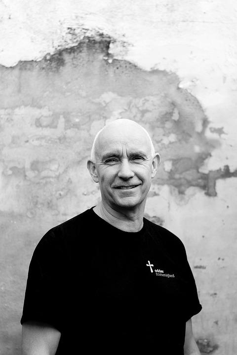 Priest, Denmark, Old Man, Portrait, Grey Hair, Bold