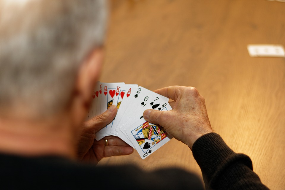 Cards, Old Man, Hand, Playing, Cardgame