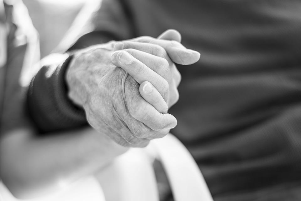 Hands, Old Man, People, Holding Hands, Family
