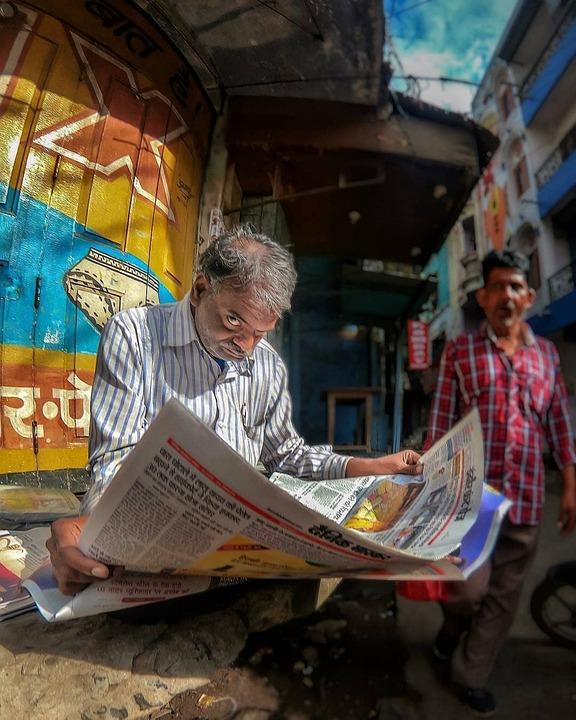 Newspaper, Old Man, Man, Reading, Old, News, Read