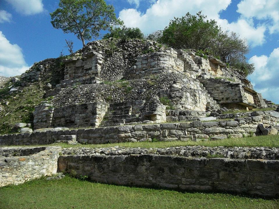 Aké, Yucatan, Mexico, Ruins, Building, Old, Ancient