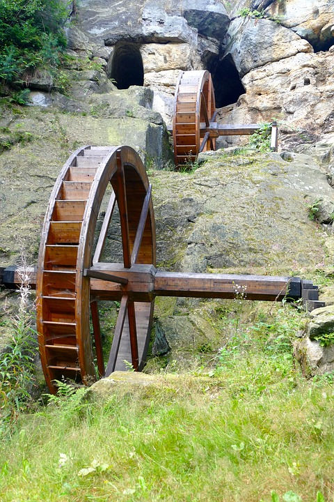 Nature, Landscape, Wooden Wheels, Mill, Old