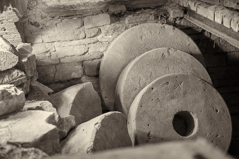 Millstones, Romance, Mill, Old, Romantic