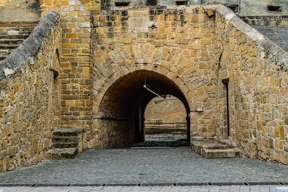 Gate, Wall, Old, Architecture, Stone, Monument