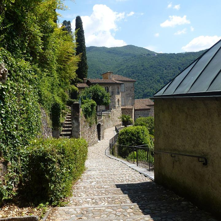 Morcote, Ticino, Switzerland, Away, Village, Old