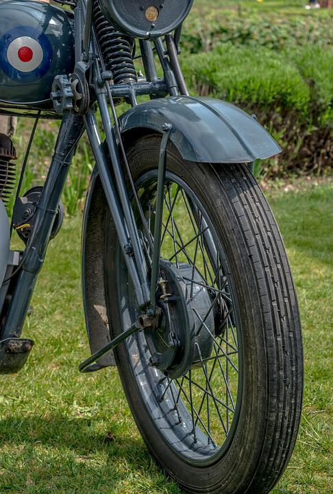 Motorcycle, Bike, Wheel, Old, Vintage, Wartime, Army