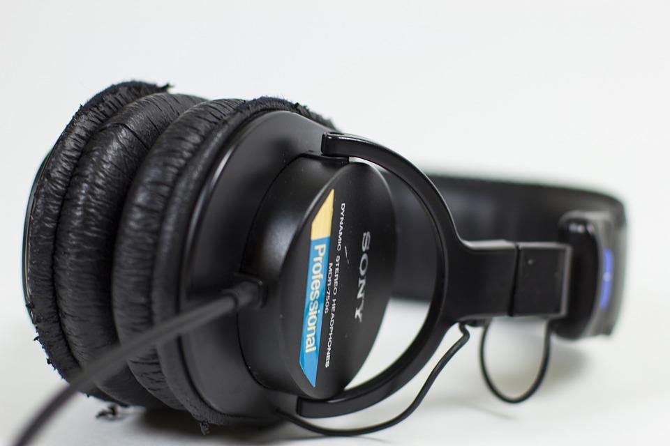Headphones, Music, Sony, Sound, Listen, Old