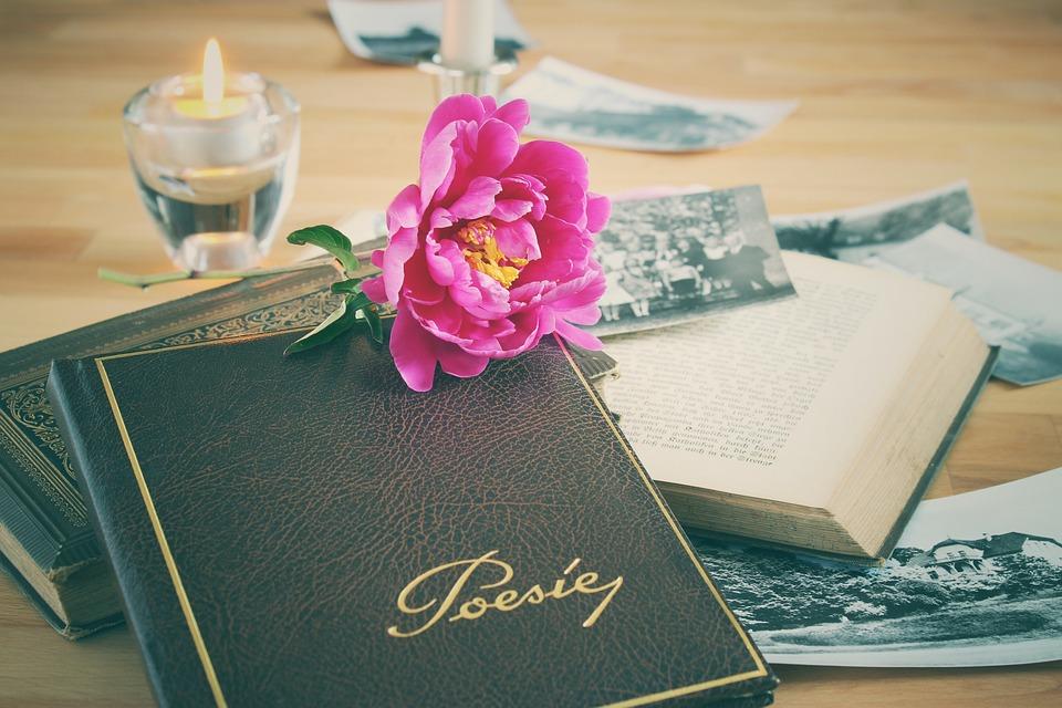 Poetry Album, Book, Leather, Old, Nostalgia, Vintage
