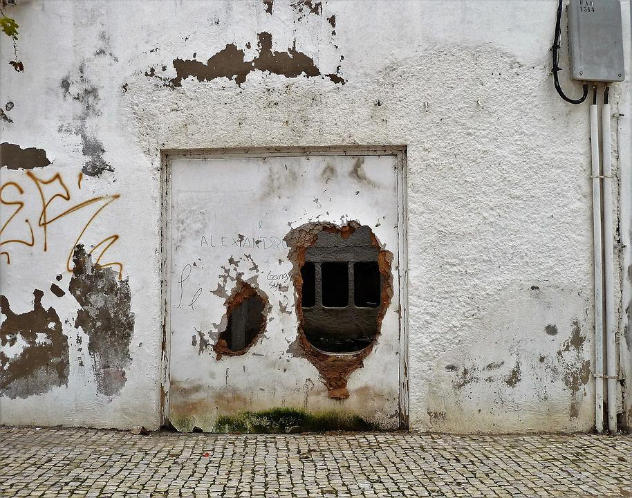 Building, Wall, Broken, Old Wall, Old, Hole, Holes