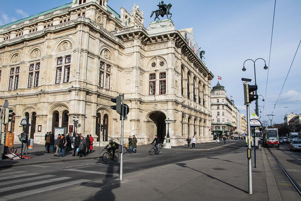 Vienna, Opera, Road, Old