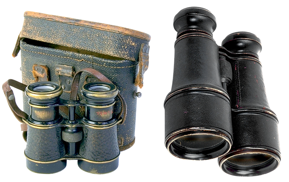 Binoculars, Field, Military, Optics, Appliance, Old