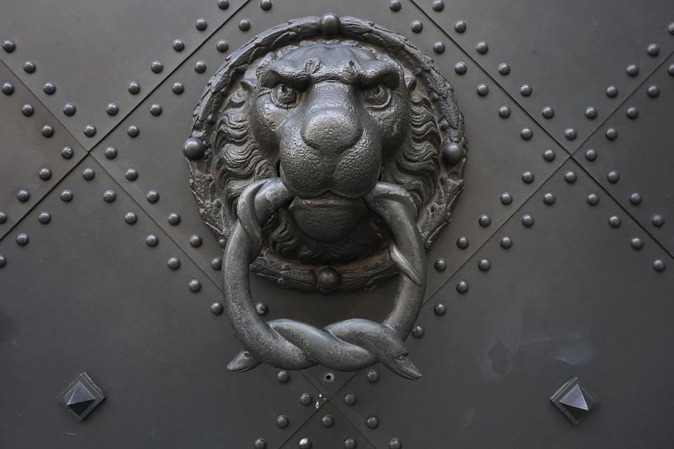 Doorknocker, Historically, Old, Input, Ornament, Door
