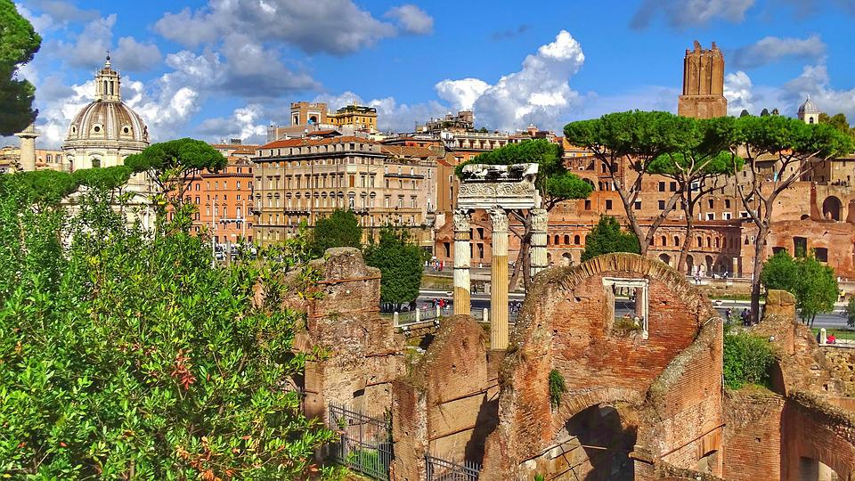 Architecture, City, Panorama, Travel, Old, Italy, Rome