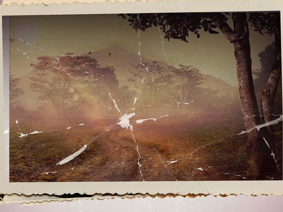 free photo old photo landscape destroyed broken fog image max pixel