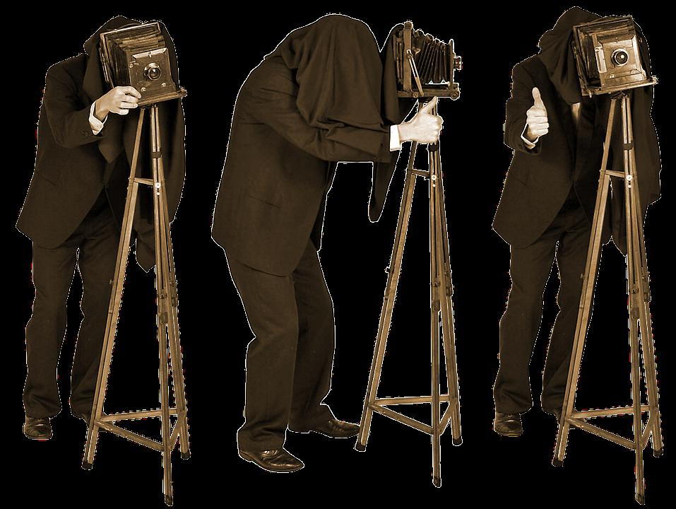Photographer, Old Photo, Last Century, Tripod, Focus