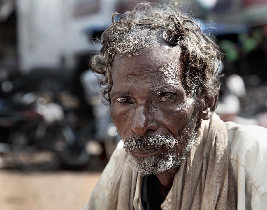 Beggar, India, Old, Poor, Street, Homeless, People