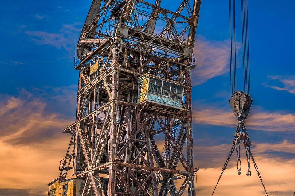 Crane, Old, Rust, Industry, Port, Abandoned