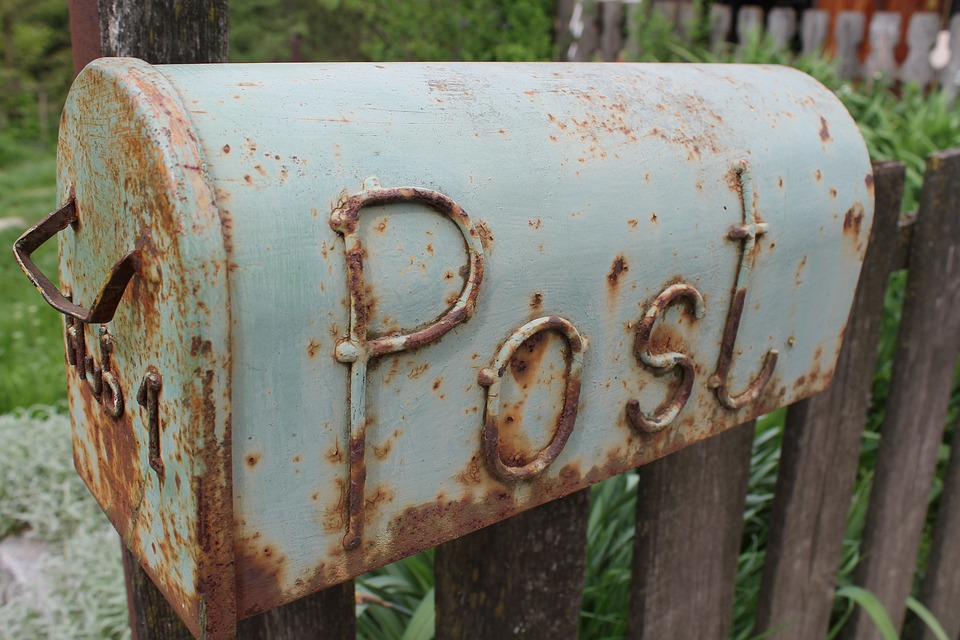 Post, Letter Boxes, Stainless, Old, Fence, Lapsed