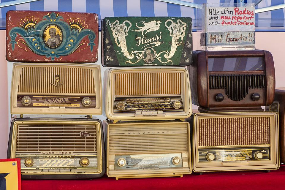 Radio, Tube Radio, Radio Device, Old Radio, Flea Market