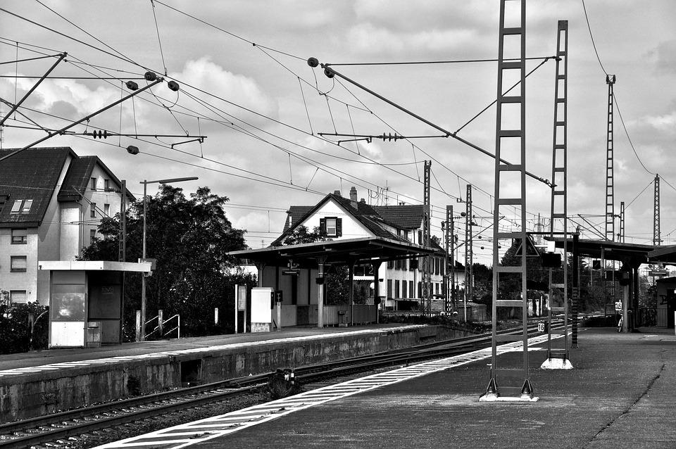 Railway Station, Old, Rails, Freight Transport, Railway