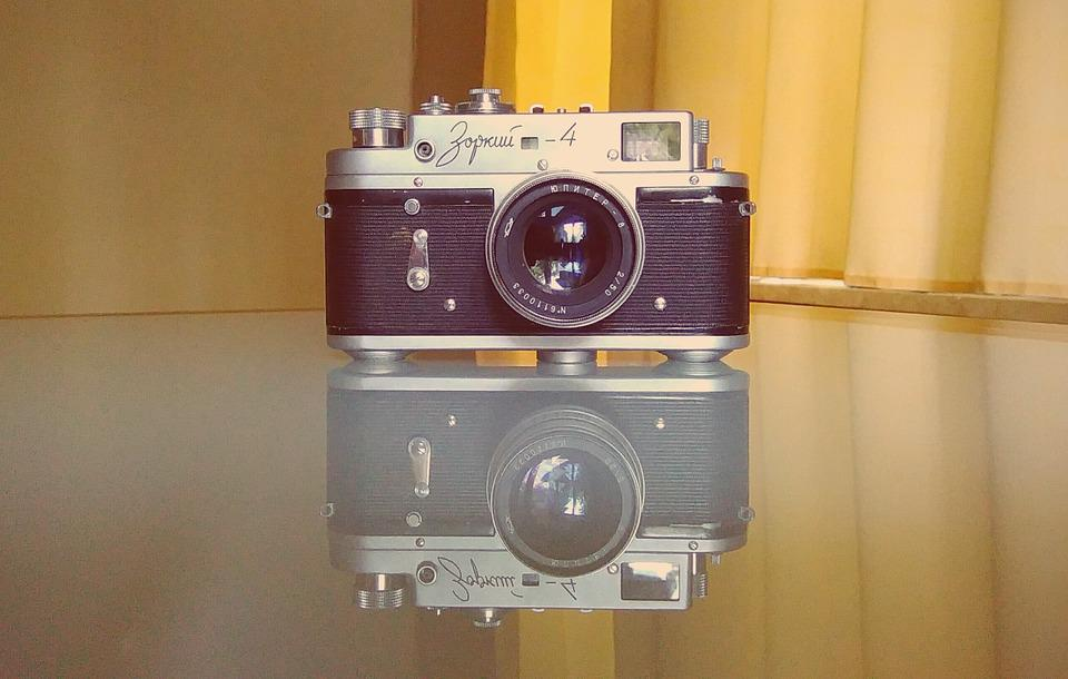 Camera, Old, Retro, Vintage, Reflection, Photography