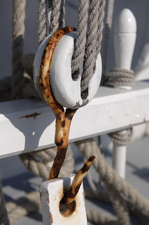Old Rig, Wooden Boat, Deck Fittings, Chandlery