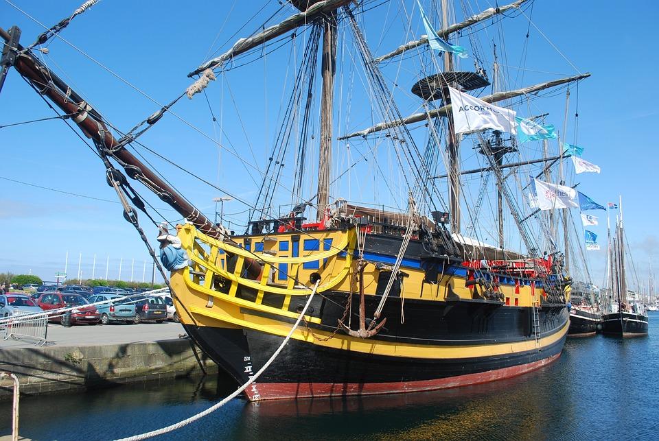Sea, Old Rigs, Boat, Sailboat, Sailing, Rope, Rigging