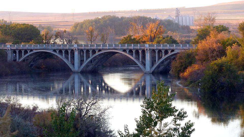 Bridge, Old, Concrete, River, Historic Landmark, Road