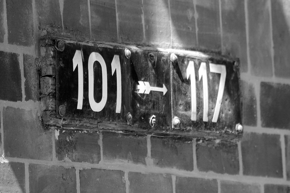 House Numbers, Road, Fixing, Hamburg, Old