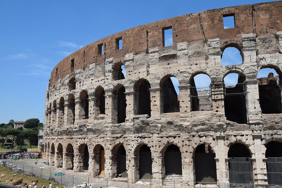 Italy, Colosseum, Rome, Gladiatorial Games, Old