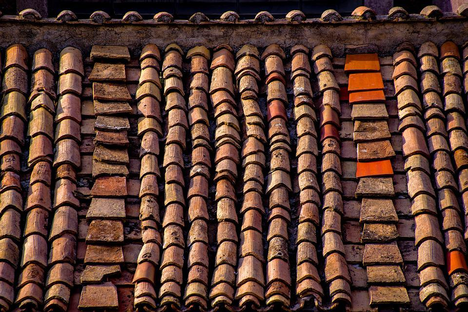 Roof Roofing Tiles Old Ancient Rome Italy