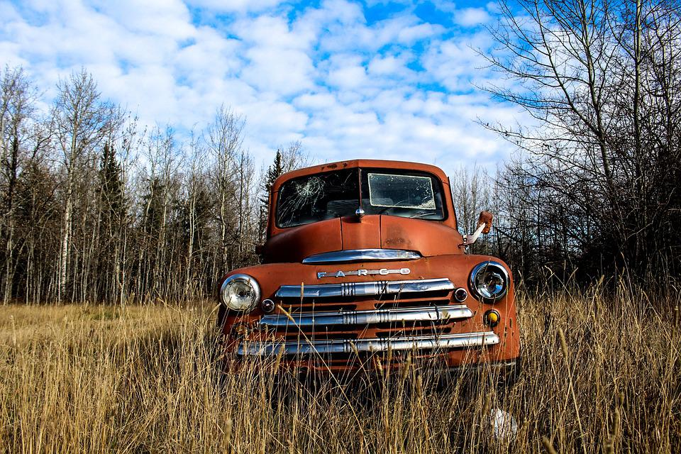 Free photo Old Rustic Vintage Antique Retro Car Rusty Truck - Max Pixel