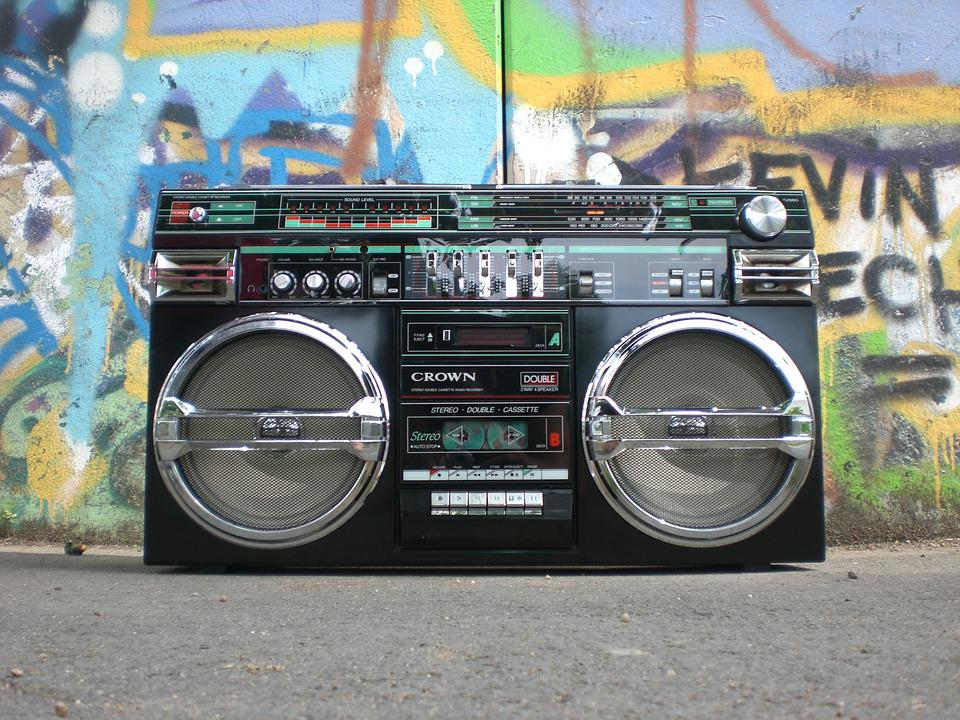Ghettoblaster, Radio Recorder, Boombox, Old School