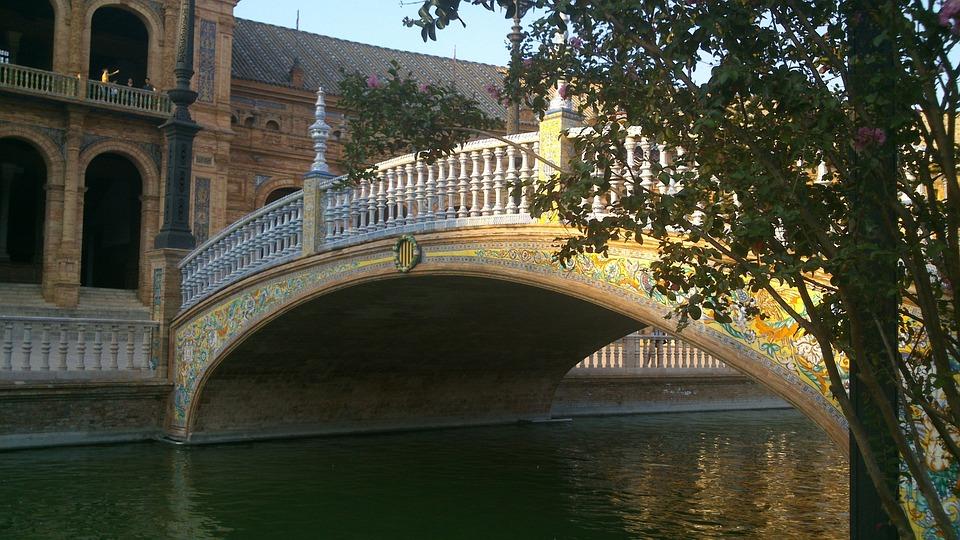 Seville, Bridge, River, Historical, City, Old