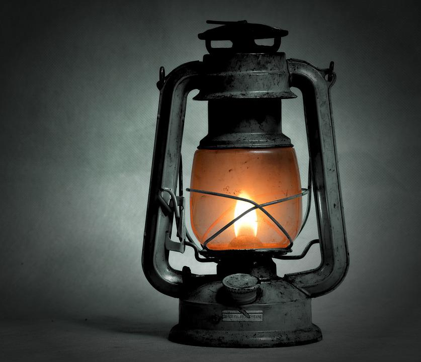 Kerosene Lamp, Old, Replacement Lamp, Shine, Lighting