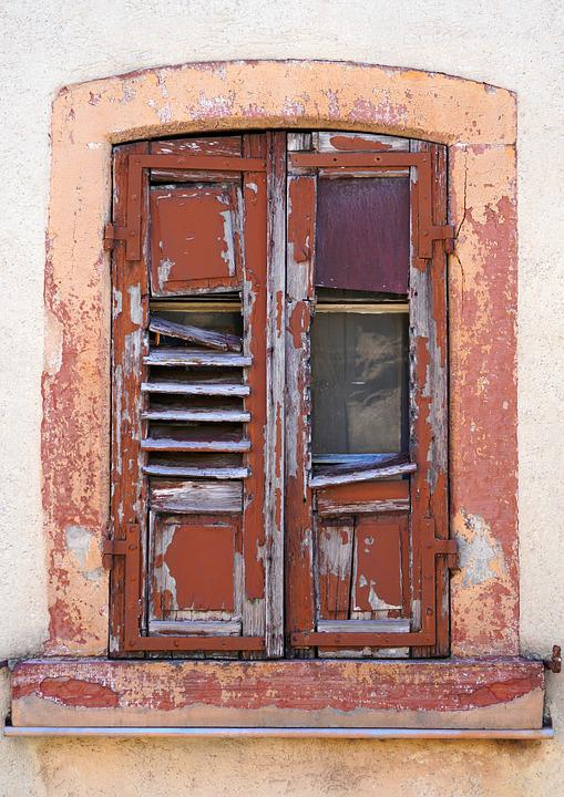 Window, Old, Wood, Shutter, Architecture